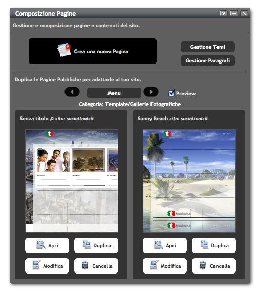 Creazione pagine web - Socialtools