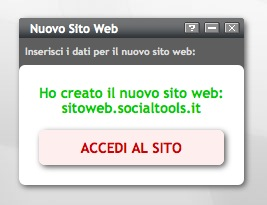 Gestione del sito web