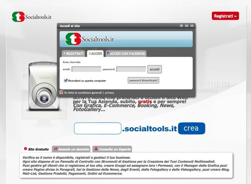 Registrazione - Socialtools